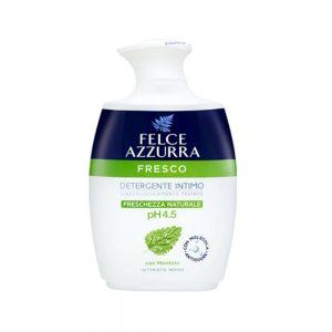 Средство для интимной гигиены Felce Azzurra с освежающим ароматом ментола. Уровень pH - 4,5. Подходит для ежедневной интимной гигиены. Богат натуральным ментолом для дополнительной свежести. Протестировано гинекологами и дерматологами. Аромат распознает и устраняет неприятные запахи, придает ощущение свежести.