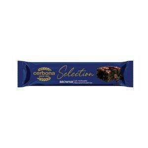 CERBONA Brownie cake flavoured muesli bar coated by cacao coating, 22g x 20gab