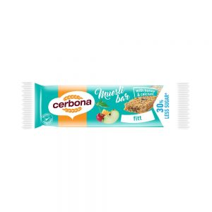 The Cerbona fit muesli bar is made with calcium, a valuable source of nutritional fiber and a source of dietary fiber, so it can be well integrated into a healthy diet. The fit muesli bar is made irresistible with cherries, apples, peanuts, honey, cereal and rolled oat flakes. Calcium is needed to maintain normal bones and teeth and contributes to proper muscle function. You can easily take and eat your muesli bars anywhere. Try the other flavours too!