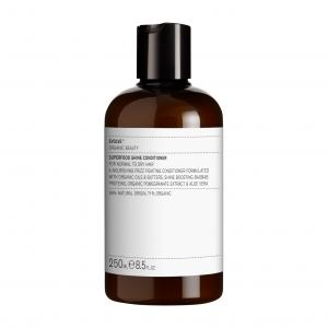Кондиционер изготовлен из натуральных масел и масел, в том числе натурального масла ши. Уменьшает волнистость, а также распутывает волосы. Смягчает и разглаживает.