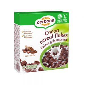 Cerbona хлопья не содержат глютена и лактозы. Какао и злаки не содержат лактозы. Готовится с молоком, молочным или безлактозным соком, на завтрак или в любое время дня в качестве закуски или еды.