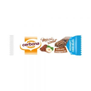 CERBONA Cocoa nuts muesli bar , with no added sugar, with sweetener, 20g