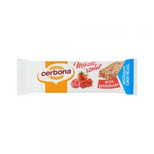 CERBONA Red fruits muesli bar with no added sugar, with sweetener, 20g