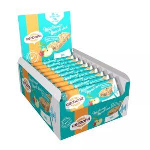 В упаковке 20 батончиков. Fit батончик из мюсли, содержащий на 30% меньше сахара!  Высокое содержание клетчатки Пониженное содержание сахара