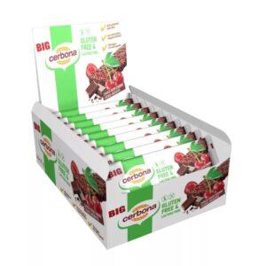 В упаковке - 20 батончиков. Шоколадно — вишневый батончик мюсли без глютена, с кусочками шоколада и вишни  Без глютена Высокое содержание клетчатки