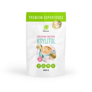 Xylitol- also called xylitol) is a sweetener of plant origin. It has a look and sweetness similar to ordinary sugar, but contains 40% fewer calories.